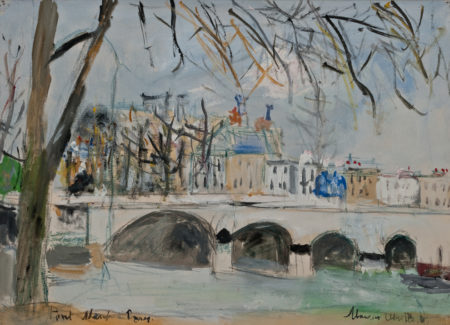 painting of Ponte Neuf, Paris