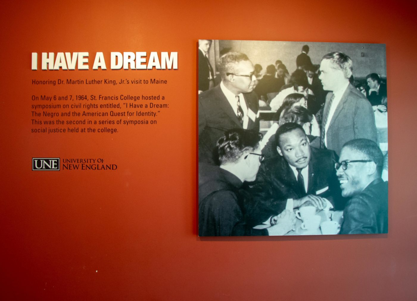 detail of Dr. Martin Luther King Jr. exhibit wall