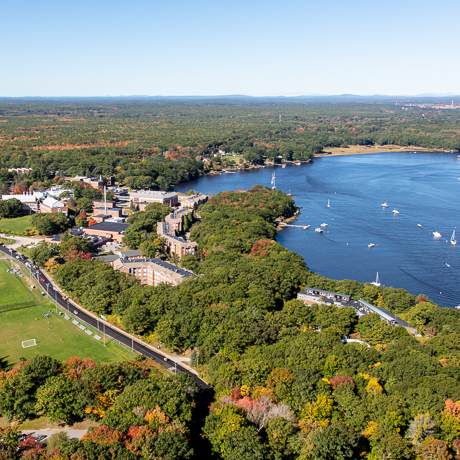 aerial photograph of UNE Biddeford Campus