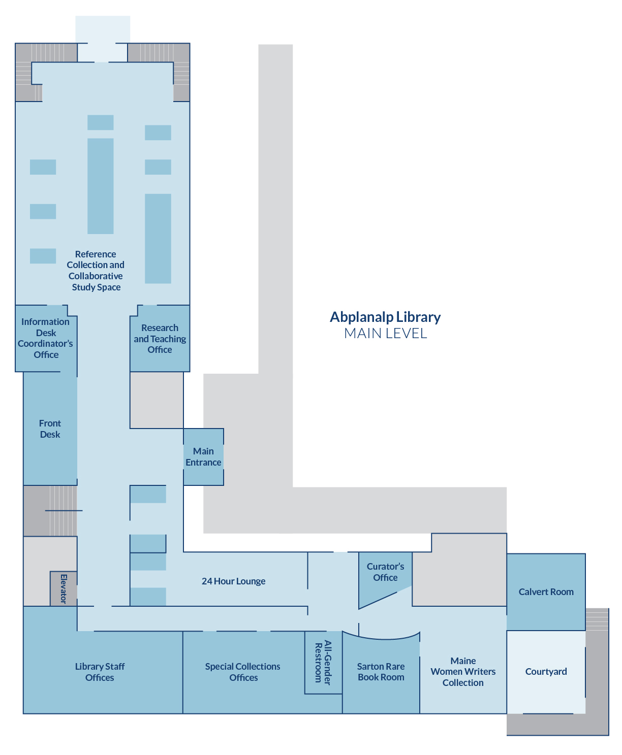 Portland Campus Library Map | UNE Library Services