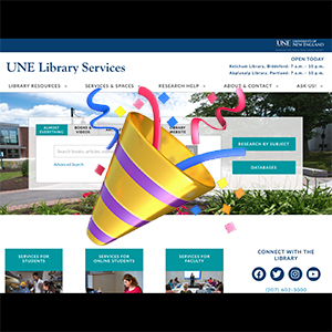 UNE Libraries Introduce New Website!