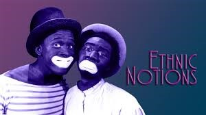 film cover featuring historical image of two men in minstrel makeup with exaggerated lips