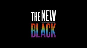 Image for film The New Black, the word black in rainbow colors.
