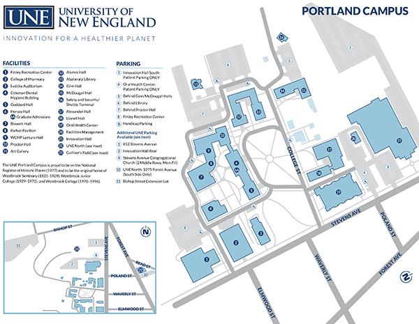 map of Portland Campus